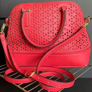 Fuchsia laser cut purse